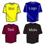 Textilien mit Bild Logo Text oder Motiv Textildruckerei