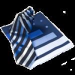 Krawatte und Tuch im Set Farbe Blau / Blau