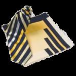Krawatte und Tuch im Set Farbe Blau / Gelb