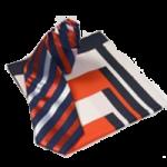 Krawatte und Tuch im Set Farbe Rot / Blau