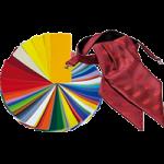 Damenplastron für die Firma Feinkost Käfer mit Farbkarte