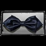Schleife Fliege spitze Form schwarz geeignet für Stehkragenhemd mit Ankerband