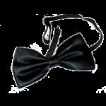 Kellnerschleife schwarz mit Gummizug