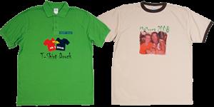 T-Shirt oder Polo mit Sublimationsdruck oder Flock Logo Bilder und Motiv