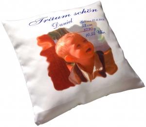 Kissen 40 x40 cm tolles Geschenk für Neugeborene oder Verliebte