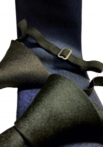 Einfarbige Krawatte dunkel Blau und Schwarz für Feuerwehruniform