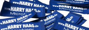 Webetikett für Krawatten von Harry Haag