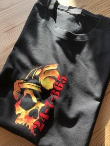T-Shirt mit Feuerwehrmotiv nach Kundenwunsch