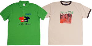 T-Shirt oder Polo mit Sublimation und Flock gedruckt Logo als Motiv oder Urlaubsfoto alles ist möglich