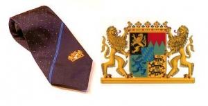 100% Seide Krawatte des Bayrischen Staatsministerium