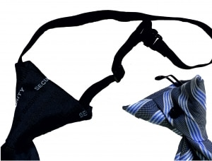 Clip-Krawatte oder Gummizug-Krawatte Regattes
