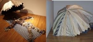 Krawatten als Kunstobjekt in Memmingen im Kunstmuseum