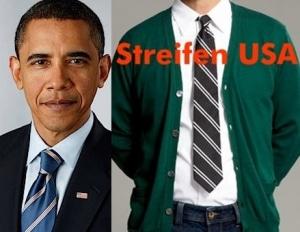 Obamas Krawatte - Streifenverlauf der Krawatten